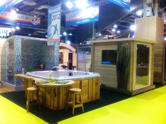 Stand spa sauna hammam clair azur salon de la piscine et for Salon de la piscine